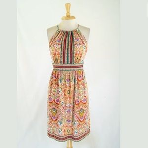 London Times Floral Paisley Jersey Dress Size 12